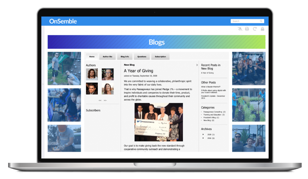 Intranet Blog Software