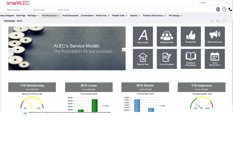 ALEC Intranet Example
