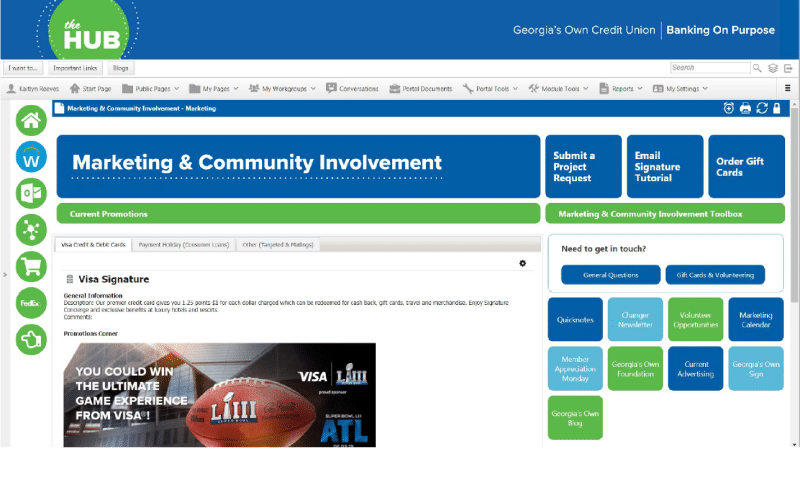 The Hub Intranet Example